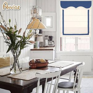 Blinds Anvige Modern Style Made Of Cotton Fabric Custom Roman Shades For Kitchen Ready To Install