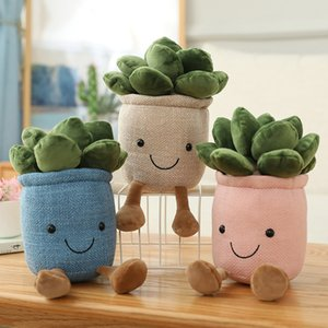 23cm Succulent Plants Plush Toys Stuffed Soft Tulip Bookshelf Home Decoration Simulation Doll Creative Potted Flowers Pillow for Girls Kids Gift DHL