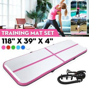 Free Ship 3m Inflatable Gymnastics Airtrack Tumbling Air Track Floor Trampoline For Home Use  Training  Cheerleading  Beach