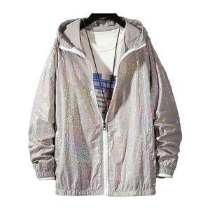 Reflecting Basic Colorful Summer 2020 Causal Dunne Windjack Women Hooded Jackets Jas Rits Bomber Veste Femme