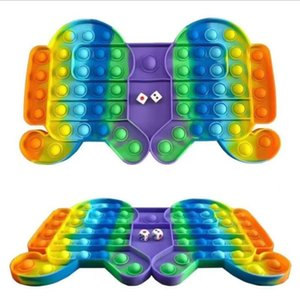 Party New-arrival Explosive Chessboard Bubble Poppers Fidget Push Sensory Toys Tiktok Large Size Interactive Parent Child Board Game Finger Toy