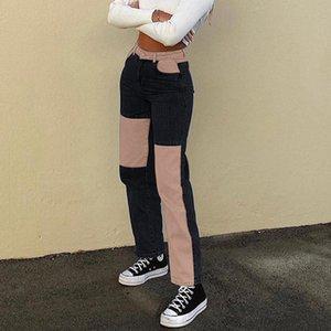 Beatwork Bowgy женщина джинсы мама брюки хаки старинные высокие талию парня девушки прямые брюки уличные y2k 90s женские штаны