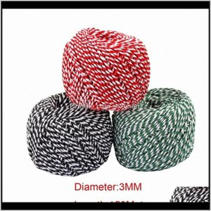 Yarn Clothing Fabric Apparel Drop Delivery 2021 Twine String 150Meters Roll M Cotton Cords Rope For Home Handmade Christmas Gift Packing Craf