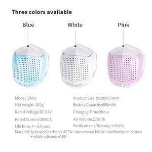 Wearable Smart True HEPA Necklace Face Masking Air Purifier