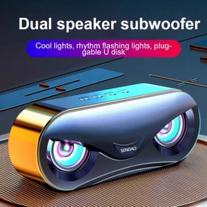 Portable Speakers Wireless Bluetooth-compatible Set With LED Colorful Light Sleeping Lamp Music Sound Box For Home Travel Office