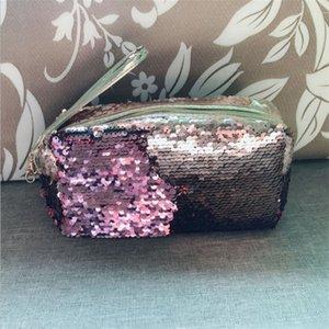 Women Travel Glitter Cosmetic Bag Pencil Box Sequin Makeup Case Gift Portable Makeup Bag Sequins Zipper Brush Organizer Travel P 274 G2