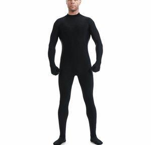Черное полное тело Zentai костюм спандекс лайкра водолазки боди нилоновые кожи колготки унитурирует косплей боди dff2017