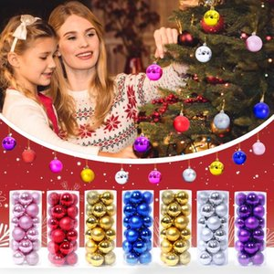 Novelty Items 24pcs Plastic Balls Ornament For Christams Tree Decor Christmas Decorations Home Hanging Wedding Supplies #T2P