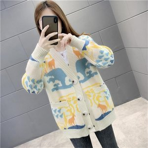 New women sweater Ladies pullover turtleneck cashmere chunky knit high-end ladies jumpers plus size chunky knit Print sweat shirt