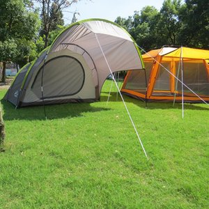 Hiking 3-4 Person Double Layer Camping Tent Waterproof Canopy Large Gazebo Sun Shelter Game For Family Garden Tents And Shelters