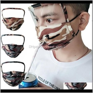 Designer 3 In 1 Shield Anti Dust Camo Washable Oil Protective Mask Drink Mouth Face Masks With Hole Or Zipper Cca12291 Pz6Fa 1Twxf