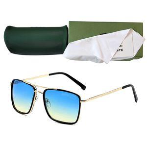 Retro Polarized Luxury Mens Designer Sunglasses Rimless Gold Plated Square Frame Brand Sun Glasses Fashion Eyewear With Case 138