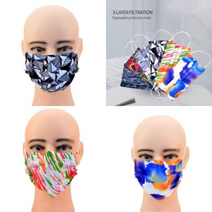 FactoryEQDN Printed Face Adults Mouth Cover 3 Disposable Ply Breathable Blocking Dust Air Anti-Pollution Designer Mask Par