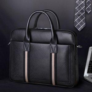 SCISE 2020 Japonés y coreano Maletín de moda de moda Nuevo bolso de hombre Bolso de gran capacidad de cuero horizontal Q0112