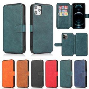Étui en cuir vintage magnétique magnétique rétro pour iPhone12 Mini 11 Pro Max XR XS 6S 8 Plus Couvercle de téléphone portable