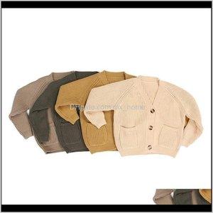 Kaiya Angel Children Boutique Jacket Coat Outwear Wool Knited Toddler Kids Girls Boys Cardigan Sweaters Tops 201103 0Hldt Z5Eco