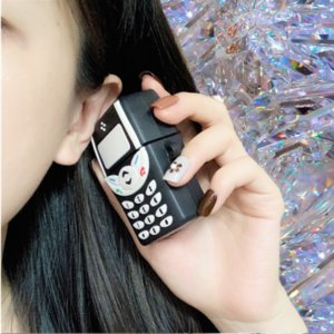 Retro telephone Wireless Bluetooth Earphone Cases funny 3D Headphones For Airpods2 silicone soft Cover