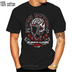 boys 2021 Summer Style High Quality Tops tee Shirt for Man Von Van Dutch T-Shirt Retro Biker Rockabilly Rocker To-Neck TeeChildren's clothin