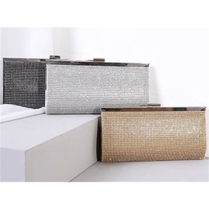 Design luxury handbag Quality Women fashion Clutch 2019 new rhinestone banquet dinner bags 22.5cm small sizes hasp smooth hardware