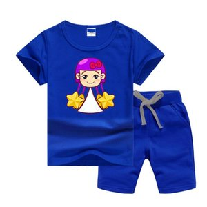 Luxury Designer Baby Summers Clothes Set Printing Cartoon Buity-Girl Kids Boy Girl Short Sleeve Tee and Pants 2Pcs Sport Suit Fashion Tracks