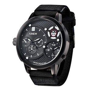 Relógios de relógios grandes marca relógios mens moda nylon banda esportes militar exército presentes vintage quartzo montres de marque luxo 5916