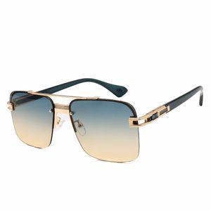 Top quality mens sun glasses luxury designer sunglasses man retro fashion style Square Frameless UV400 lens metal sunglass With box Free delivery 6009 eyeglass