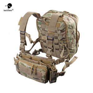 Flatpack D3 Plus Backpack Hydration Chest Rig Vest Armor Rifle AK M4 Hanger Utility Belly Pouch Hiking Hunting Army Bag Unisex Y200920