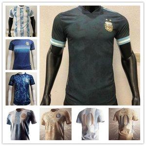 200 aniversario 2021 2022 Versión del jugador Argentina Fútbol Jersey 20 21 22 Hogar Azul # 10 Camisa Messi Agüero Icardi Di Maria Fútbol Uniforme Venta