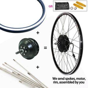 Electric Bicycle Motor Wheel 36V 250W 350W 500W Ebike Kit 20-29inch Front Rear Hub Bulk E Bike Velo Electrique
