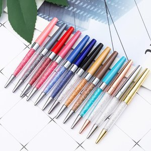 Ballpoint Pens 5pcs Lot Colorful Crystal Diamond Metal Roller Pen Beautiful Gift School Office Supplies Rose Gold Black Blue Ink