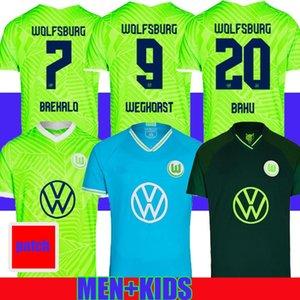 21 22 Vfl Wolfsburg Soccer Jerseys Whagorst Baku 2021 2022 منزل Third Steffen Breakalo Mehmedi Philipp Bialek Guilavogui Arnold Xaver Gi