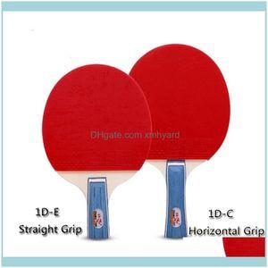 Tisch Freizeitspiele Sport-Outdoorstabelle Tennis-Raquets 1 Stück Sportartikel Original Doppelfischschläger 1D-C Horizontal / 1D-E gerade