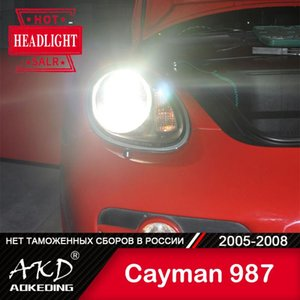 Other Lighting System AKD Car Styling Headlights For Cayman 987 2005-2008 LED Headlight DRL Head Lamp Projector Automotive Accessori