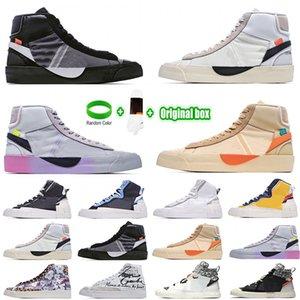 [Bracelet+Socks+Original Box]Mens Mid 2.0 Casual Shoes Spooky Grim Reepers All Hallows Eve White Serena Williams Rainbow Women Blazers Blz shoe