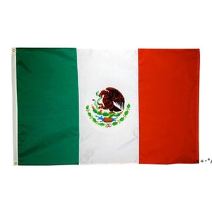 50pcs en gros usine directe 3x5 fts 90x150cm MX Mexicanos Mexicanos Drapeau mexicain de Mexique Double Stitch FWA4626