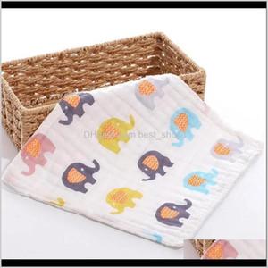 Robes Bath Shower Baby, & Maternity Drop Delivery 2021 Saliva 6 Layer Muslin Cotton Handkerchief Rags Kids Wipe Cloth Bibs Feeding Towels Bor
