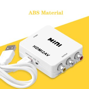 HDMI2AV Connector RCA CVSB L Scaler Converter Box для HDTV AV2HDMI Video Composite Adapter поддержка NTSC PAL с розничной коробкой