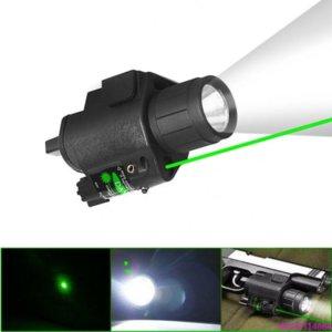 كري led التكتيكية مضيا ضوء الليزر الأخضر ضوء ستروب ضوء ل بندقية مسدس glo ck g17 g19 20mm السكك الحديدية جبل shotgun 200 lumens مجانا