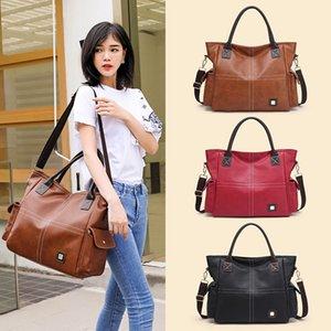 Fashion design single shoulder crossbody bag 2021 European and American trend tote bags retro large capacity handbag