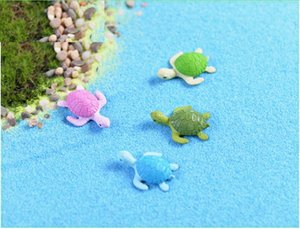 lovely mini cake toppers mix color tortoise microlandschaft capsule toys for kids