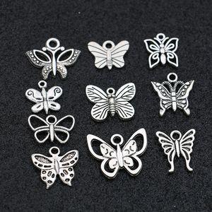 Бабочка Подвески Подвеска для ювелирных изделий Браслет Серьги Серьги Ожерелье DIY Аксессуары Craft Mix 20 шт.