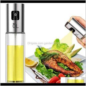 Utensils Bbq Cooking Glass Olive Pump Stainless Steel Spray Oil Bottle Sprayer Can Jar Pot Kitchen Tool Gga37623 Fh2M Ubfsd