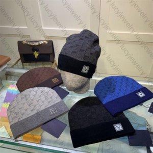 محبوك قبعة قبعة قبعة كاب مصمم الجمجمة قبعات للرجل امرأة الشتاء القبعات 5 اللون أعلى جودة