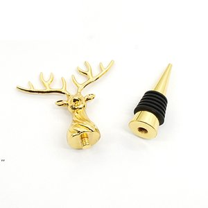 Metal Red Wine Bottle Stoppers Bar Tools Creative Deer Head Beer Champagne Sealing Stopper Christmas Party Decoration DWF9099