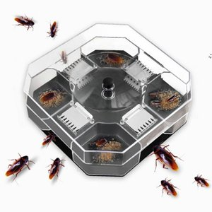 Pest Control Cockroach traps Reusable and environmentally friendly Metal plastic four mouth cockroachs trap LLB9961