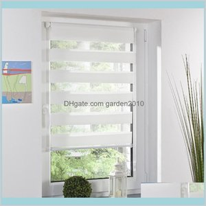 Blinds Home Décor & Garden Fashion Roller Zebra Blind Curtain Window Shade Decor Office White Drop Delivery 2021 Khsto