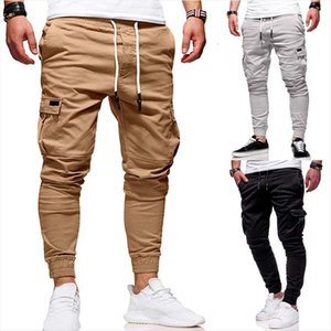 Menswear Brand Cargo Slim Solid Women Pants Color Multi Pocket Embellishment Mens Casual Designer Jogger