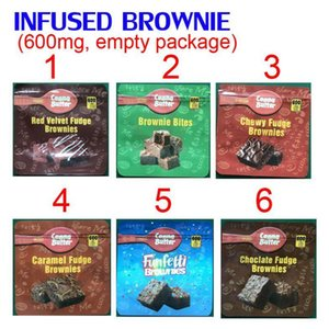 Gummy edibles chocolate Brownie packing bags red velvet chewy fudge bites caramal funfetti packaging