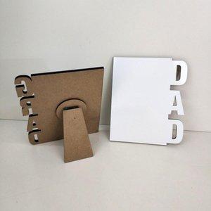 Sublimación Marcos de fotos MDF 3 estilos Crafts Sublimación en blanco Gradilla Imagen Rahmen para madres Padres Día Regalos Decoración de escritorio 665 S2
