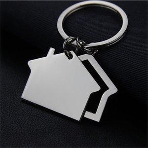 Creative House Shaped Keychains Metal Keyrings house Design car Key Chain Key Fashion Accesories Pendant Key Holder da292 610 K2